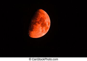 big red moon