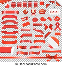 Big Red Ribbon Set