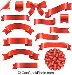 Big Red Ribbons Set