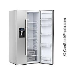Big refrigerator with opened door