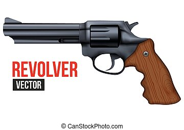 Big Revolver. Black gun metal.
