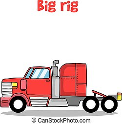 Big rig truck of vector illustration