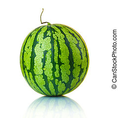 Big ripe watermelon isolated on the white