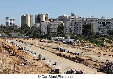 Big road construction site