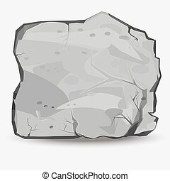 Big Rock stone - Rock stone in style. Big boulder. Mineral...