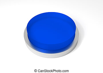 big round blue button