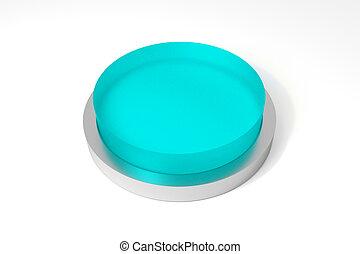 big round button teal