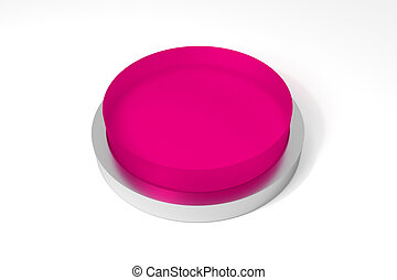 round pink button on white surface