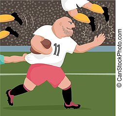 Big rugby player