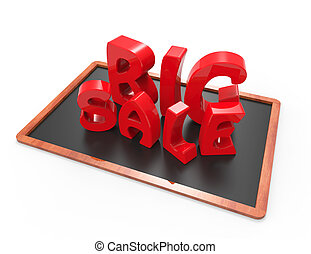 Big sale 3d word concept