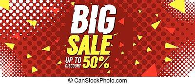 Big Sale 50 Percent Banner Vector