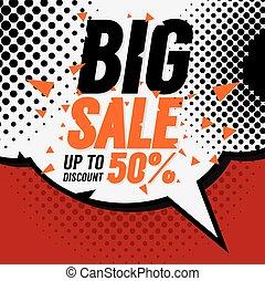 Big Sale 50 Percent Vector