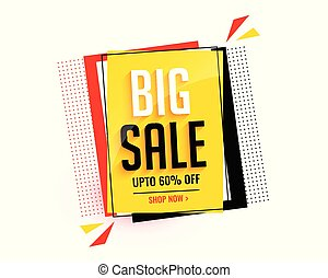 big sale abstract banner template