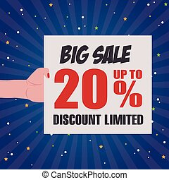 abstract big sale background with some special objects