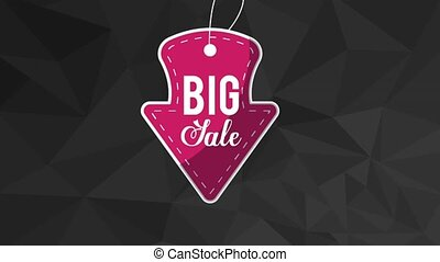 Big sale advert on stamp HD animation - Big sale advert on...