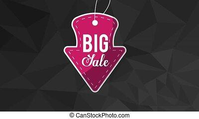 Big sale advert on stamp HD animation - Big sale advert on...