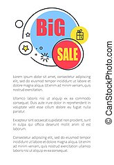 Big Sale Advertisement Poster with Shiny Bubbles