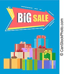 Big Sale Advertisement Vector Illustration