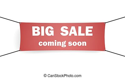 Big sale. Advertising banner
