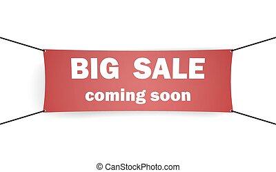 Big sale. Advertising banner