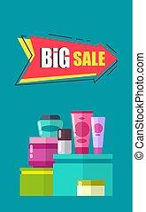 Big Sale Advertising Card Vector Illustration