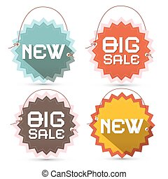 Big Sale and New Title on Toothed Labels with Strings