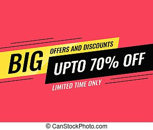big sale and promotional banner template