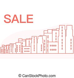 Big sale and shopping concept. City.
