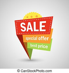 Big Sale and special offer, shopping banner