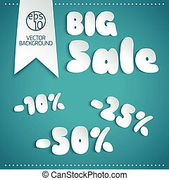 Big Sale Background In Paper Style