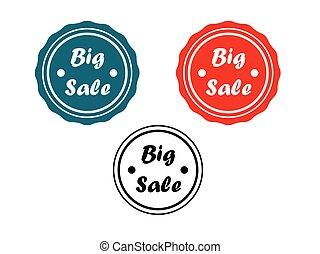 Big sale badge set
