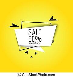 Big sale banner 50 percent.