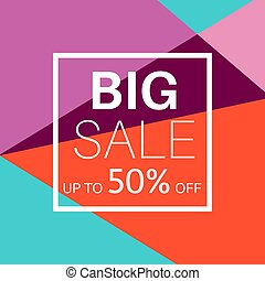 Big sale banner for online shopping.