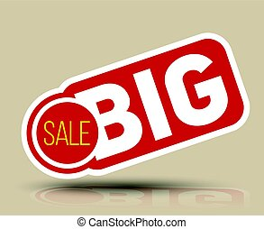 Big SALE banner for promotion advertising.