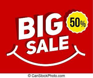 Big SALE banner for promotion advertising.