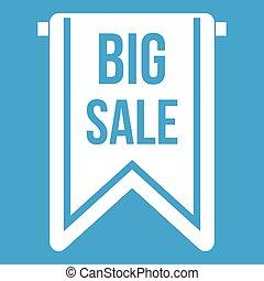 Big sale banner icon white