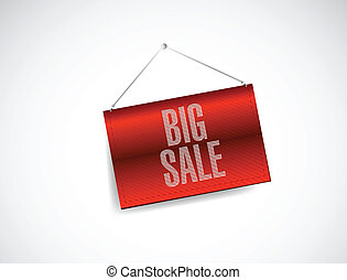 big sale banner illustration design