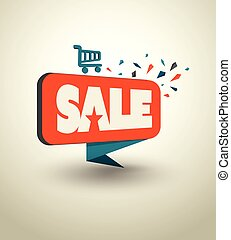 Big sale banner origami style.