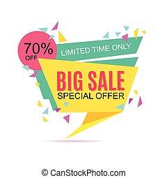 Big Sale banner. Sale background.