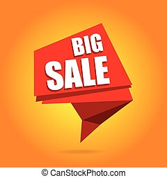 Big Sale banner. Sale Tag. Vector Sale Background Illustration for Promotional brochure,booklet,poster, shopping flyer, discount banner.