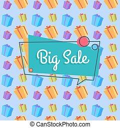 Big Sale Banner Seamless Pattern Shopping Bags