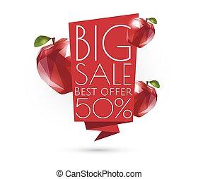 Big sale banner template design.