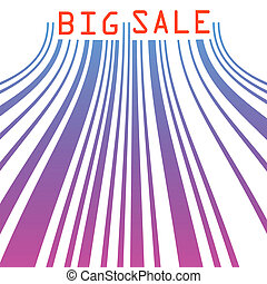 Big sale barcode banner. EPS 8