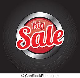 Big sale - Biga sale over gray background vector...