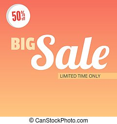 Big sale bright banner.