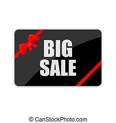 Big Sale card. Vector illustration