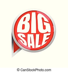 Big sale circular. icon. vector. banner. Business. marketing. on white background
