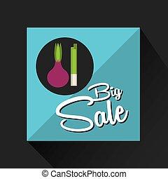 big sale concept onion fresh chives vector illustration eps...