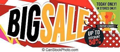 Big Sale Deal 8000x3198 pixel Banner Vector Illustration
