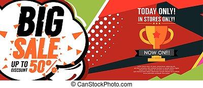 Big Sale Deal 8000x3200 pixel Banner Vector Illustration
